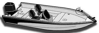 7OZ STYLED TO FIT BOAT COVER LUND ANGLER 1650 1996-1998
