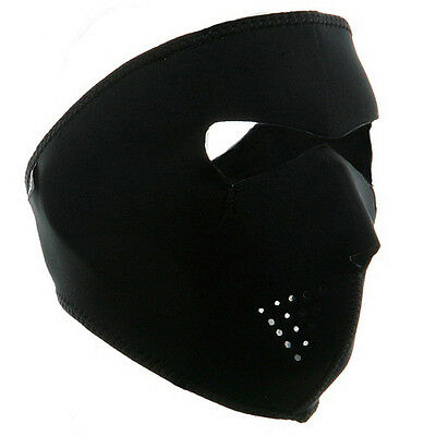 Neoprene Full Face Reversible Biker Skateboard Motor Bike Scary Sports Mask BLK