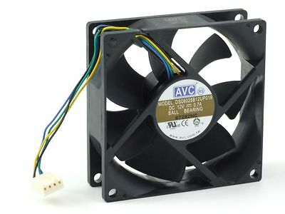 AVC DS08025B12UP019 Processor PC Cooling Fan/CPU-Lüfter 80x25mm 0.7A DS08025B12U