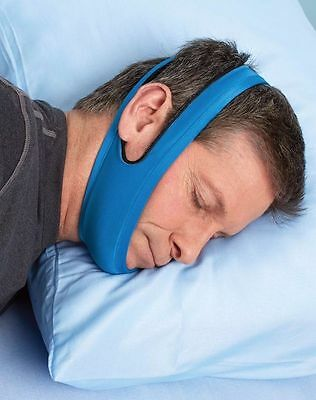New ANTI SNORING Chin Strap Solution Snore Belt Sleep Apnea Jaw Wrap TMJ Support