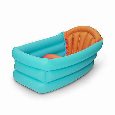 56136 Portable Baby Inflatable Bath Tub with 3 Positions in Aqua for Travel