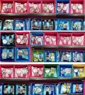 100 x Mixed Popuar Cartoon Children Wristwatch Watches With Boxes Party Favors