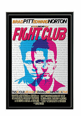 Cadre Photo A4 Noir/blanc.black/white Picture Frame.affiche Film-Movi Fight Club