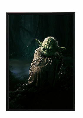 Cadre Photo A4 Noir/blanc.black/white Picture Frame.film-Movie Star Wars.ma.yoda