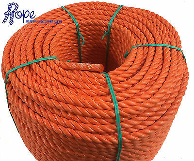 14 mm Orange Poly Rope Coils, Polyrope, Polypropylene, Agriculture, Camping