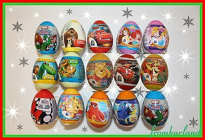 PLASTIC SURPRISE EGGS with Toy Inside -Dory, cars, princess, dory