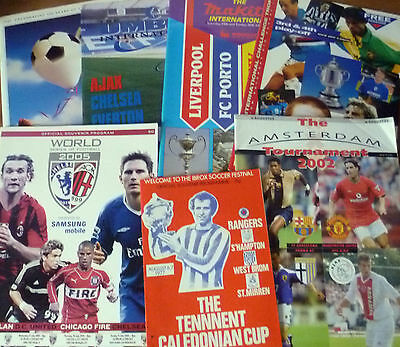 7x Pre-Season Tournament Programmes, 1977-2005.