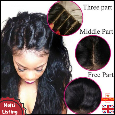 "100% Peruvian Virgin Remy 3-Way/Freestyle Silk Base Closure 4x4"" Straight/Wavy"
