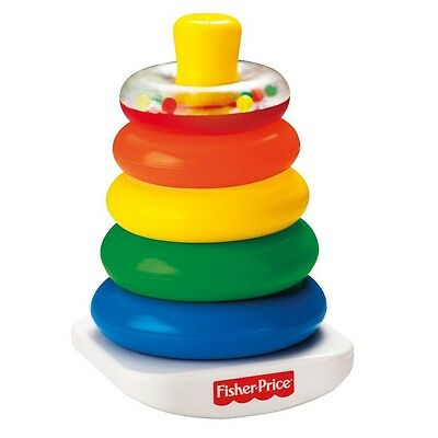 FISHER PRICE 71050 Brilliant Basics Farbring Pyramide Stapelturm