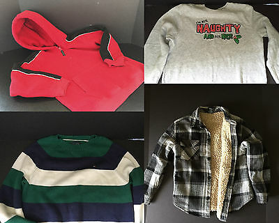 Lot Boys Winter Jacket Sweater Pullover Hoodie  Size 6-7 Gap Tommy Hilger Clothe