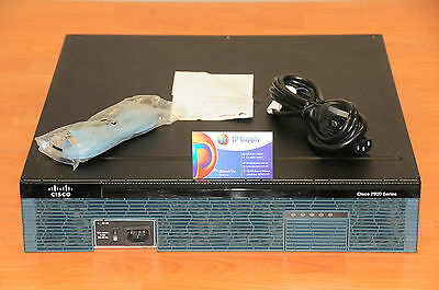 CISCO 2921 CISCO2921/K9 Integrated Services Router w/ Rack Kit 6MthWtyTaxInv