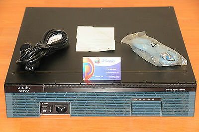 CISCO 2921 CISCO2921/K9 Router w/ PoE Power Supply PWR-2921-POE 6MthWtyTaxInv