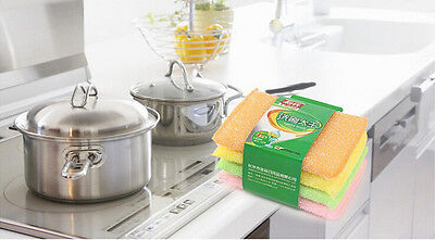 4Pcs Kitchen Dish Towels with Vintage Design, Absorbent Natural Cotton BUCA