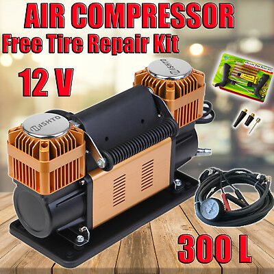 CAR AIR COMPRESSOR 12V 300L/MIN PROFESSIONAL PORTABLE  HEAVY DUTY Tyre Pump