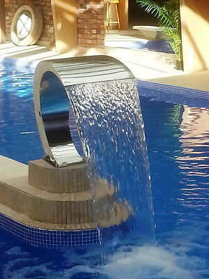 Water Feature Stainless Steel WaterFall Feature suits Swimming Pool - POLISH