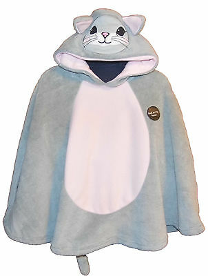 Kitten Fleece Poncho Style Dressing Gown Snuggle Wrap Size Small Approx 2-5 year
