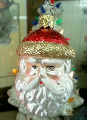 Old World Christmas, Snata Claus Head, Ornaments (INGE GLASS Collection)