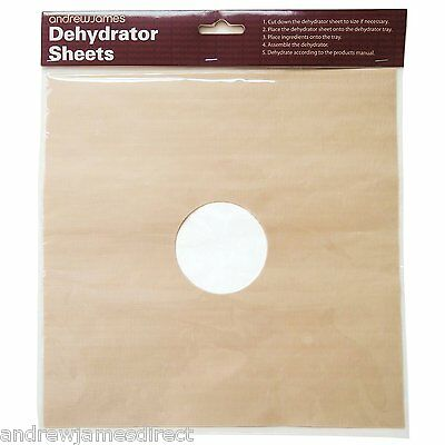 6 Flexible Dehydrator Sheets For The Andrew James Square Digital Dehydrator