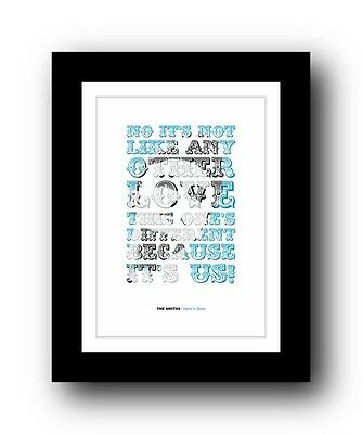 The Smiths ❤ Hand In Glove ❤ song lyrics poster art limited edition print #4