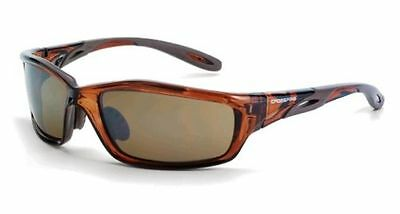 Crossfire 2117 Safety Glasses Infinity Brown Frame Hd Brown Mirror Lens