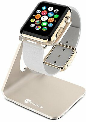 Apple Watch Stand Stalion Desktop Charge Dock Station Powder Gold Fit 38/42mm  S
