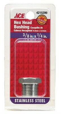"Smith-Cooper Hex Bushing Stainless 304 3/8 "" X 1/4 """