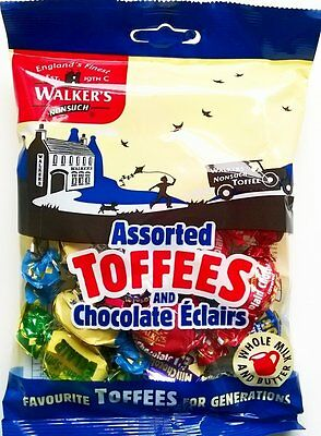 Walkers Assorted Toffees and Chocolate Eclairs - 3 x 150gm