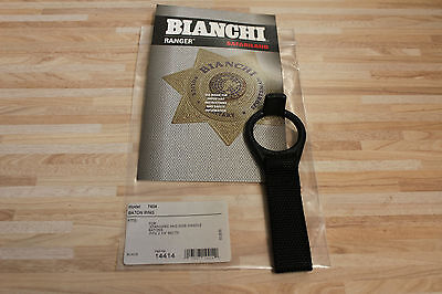 "USA Police Bianchi Stockhalter 14414 Black 7404 Baton Ring Holder 1"" Web"
