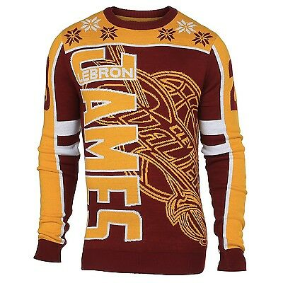 NBA Basketball UGLY Sweater Christmas Pullover CLEVELAND CAVALIERS Lebron James