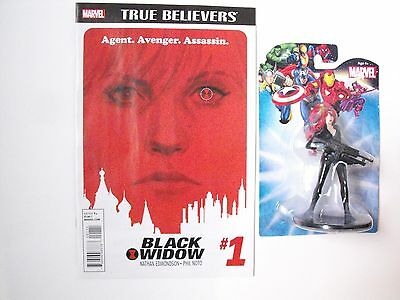 "(LOT of 2) Black Widow #1 with 4"" Figure MARVEL 2015 Secret Wars (ANAD) FREE S&H"