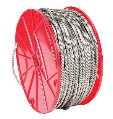"""Campbell Chain Stainless Steel Cable 3/32"""" 7 X 7 250' L"""
