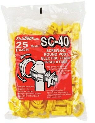 Fi-Shock Screw-On Insulator Fits All 25 / Bag