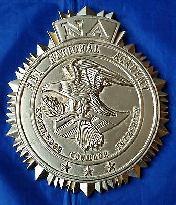 "FBI NA National Academy 3D High Relief Wall / Podium Seal Sign 9"" Tall X 8"" Wide"