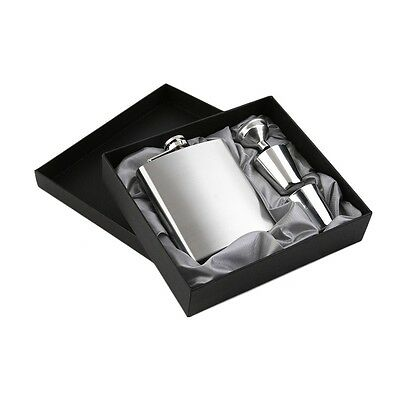 7oz Stainless Steel Pocket Hip Flask Funnel Cups Set Drink Bottle Gift New EW