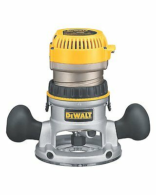 DEWALT DW618 2 1 4 HP Electronic Variable Speed Fixed Base Router Brand New