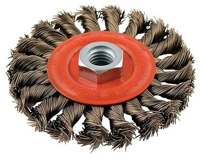 "Forney Wire Wheel Brush 4 "" Twist Knot"