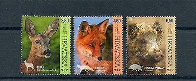 Croatia 2015 MNH Fauna Animals 3v Set Nature Deer Fox Wild Boar