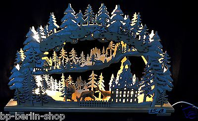 Candle arches Illuminated arch Christmas decoration Lighting Arc Wood XDL-18