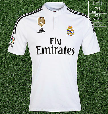 Real Madrid Home Shirt - Official Adidas World Champions Shirt - Mens All Sizes
