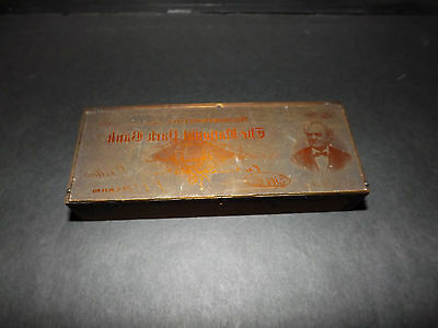 Printer Etched Copper Plate of the National Park Bank 1882 check reduced size
