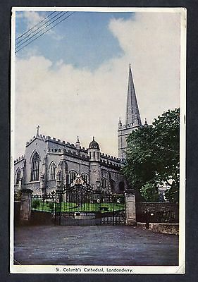 Dated 1968 - View of St Columb's Cathedral, Londonderry.