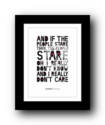 The Smiths ❤ Hand In Glove ❤ song lyrics poster art limited edition print #5