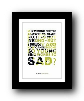 The Smiths ❤ Sheila Take A Bow ❤ song lyrics poster art limited edition print