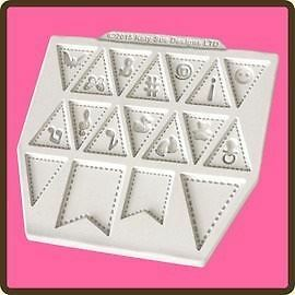 Design Mat Fondant Cake Icing Embellishment Mould - Bunting Extras