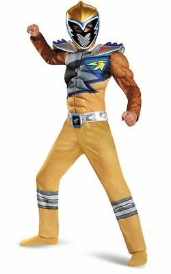 Gold Power Rangers Dino Charge Child Boys Power Ranger Muscle Book Week Costume