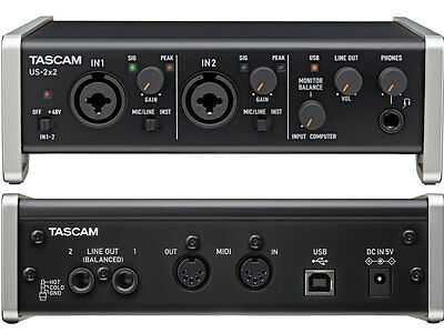 TASCAM US 2x2 - Usb Interfaccia Audio Usb/Midi 2 Ch. Compatibile Iphone Ipad