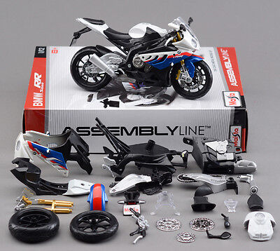 Motorcycle Diecast Metal 1/12 BMW S1000RR Maisto Autocycle Assembly Model Kit