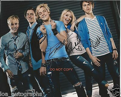 """R5 band Reprint Signed 11x14"""" Poster Photo #1 RP Ross Lynch & ALL 5 Members"""