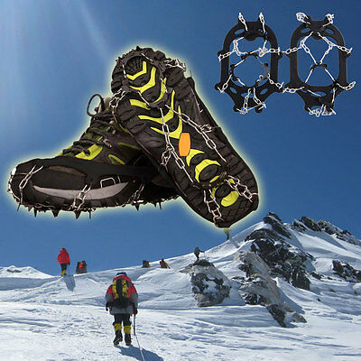Snowline Shoe Boot Ice Snow Gripper 11 Tines Large Size Chain Crampon Spike