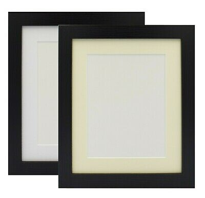 Photo Frame Picture Frame Black & White Poster Size Frame With Mount White Ivory